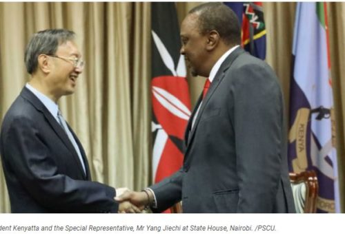 Trade, infrastructure top agenda as Uhuru meets special envoy from China